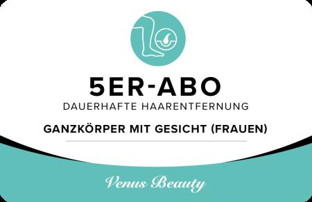 5er Abo – Ganzkörper mit Gesicht (Frauen)