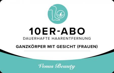 10er Abo – Ganzkörper mit Gesicht (Frauen)