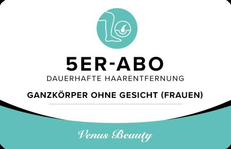 5er Abo – Ganzkörper ohne Gesicht (Frauen)